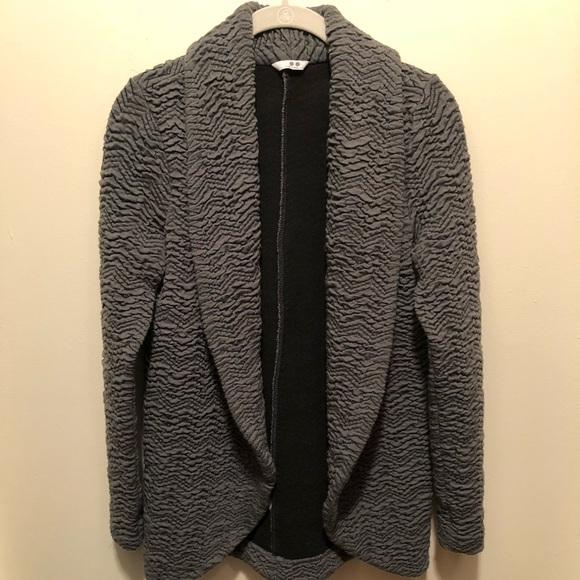Anthropologie Jackets & Blazers - Anthropologie Three Dots Grey Textured Jacket S